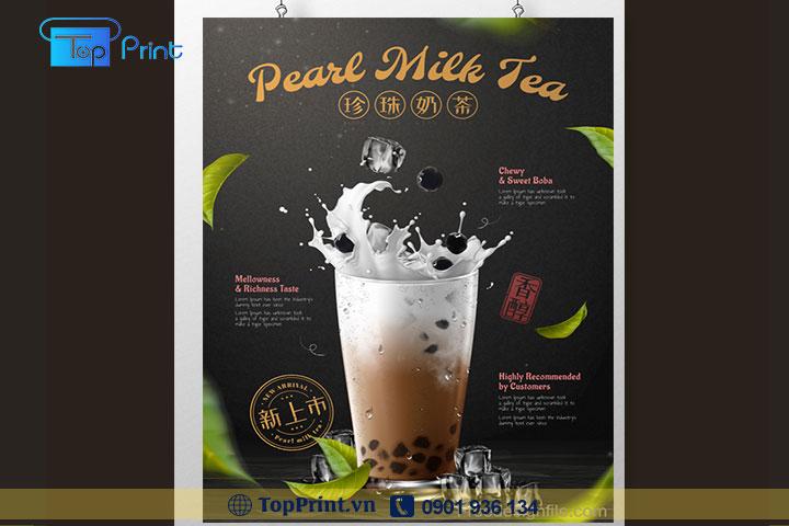 in tờ rơi trà sữa giá rẻ tại hcm